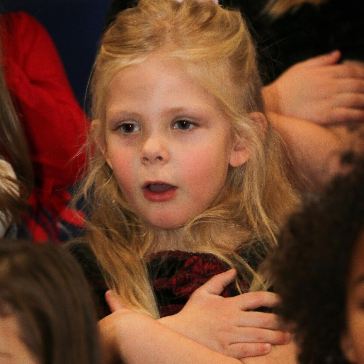 Girl at Christmas concert
